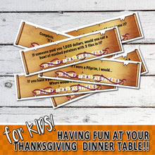 THANKSGIVING CARD GAME For Kids! Dinner game for children – Digital file - PDF file - Instant Download