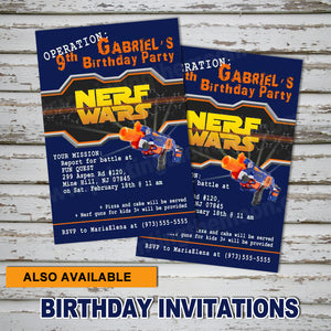 DART GUN WARS - Favor Tags - Collection #4 - Birthday party, Digital -Instant Download-