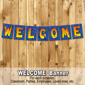 WELCOME BANNER – Digital file,  Office, Classroom, Airport - Instant Download-