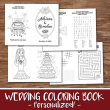 WEDDING COLORING & ACTIVITY BOOK - A PERSONALIZED LOVE STORY! - Digital File -