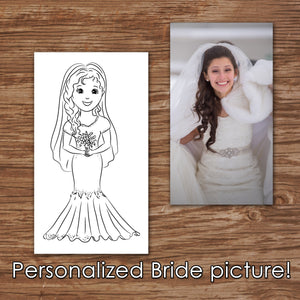 WEDDING COLORING & ACTIVITY BOOK - A PERSONALIZED LOVE STORY! - Printed Coloring Books -
