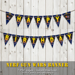 DART GUN WARS - Banner– Collection #4 - Digital file -Instant Download-