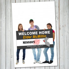 WELCOME HOME BANNER – LDS Missionary Welcome Banner -Digital file - Personalized -