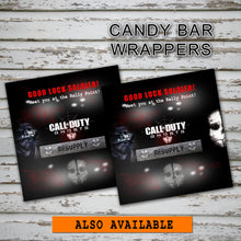CALL of DUTY- GHOSTS - Favor Tags - Birthday party -Instant Download-