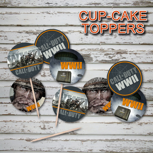 CALL of DUTY - WWII - Cupcake Toppers – Digital file -Instant Download-