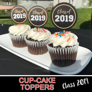 GRADUATION  CUPCAKES TOPPERS - Party item - Digital file - Instant Download - Print it yourself