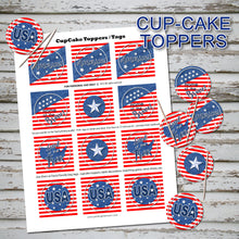 MEMORIAL DAY Cupcake Toppers -AMERICA the BEAUTIFUL- Collection #2 - PDF file - Instant Download