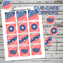 MEMORIAL DAY Cupcake Toppers -AMERICA the BEAUTIFUL- Collection #1 - PDF file - Instant Download