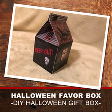 HORROR HOUSE GIFT or FAVOR BOX - DIY HALLOWEEN BOX! - Instant Download