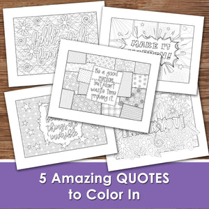 COLOR COOL PHRASES - Cool Designs - PDF file - Instant Download