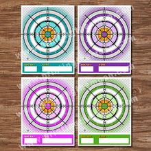 SHOOTING TARGETS - Multiple Pages – Colorful Target, Digital file -Instant Download-