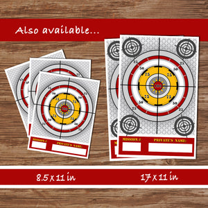 DART GUN WARS - Cupcake Flag Toppers – Collection #3 - Digital file -Instant Download-