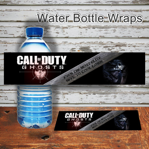 CALL of DUTY -GHOSTS- Water Bottle Wrappers – Digital file -Instant Download-