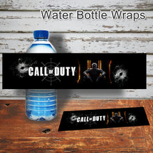 CALL of DUTY - Water Bottle Wrappers – Digital file -Instant Download-