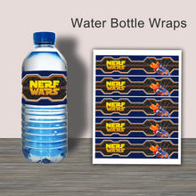 DART GUN WARS- Water Bottle Wrappers – Collection #4 - Digital file -Instant Download-