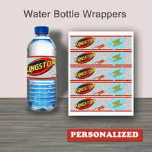 "WATER GUN WARS-""PERSONALIZED"" Water Bottle Wrappers – Digital file -Instant Download-"