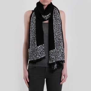 Sparkle scarf - Black /White