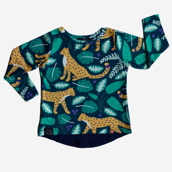 Golden Leopard Unisex Long Sleeve T-Shirt