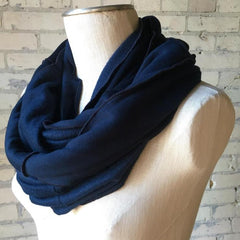 Midnight Blue Bamboo Fleece Infinity Scarf