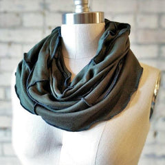 Forest Green Bamboo Fleece Infinity Scarf