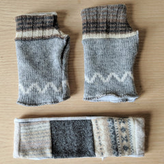 Salvaged Wool Arm Warmer & Headband