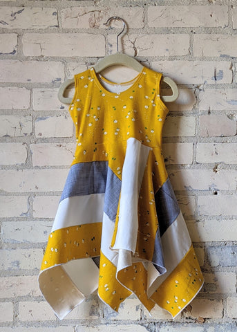 Yellow Daisy Square Dress (1-2 Years)
