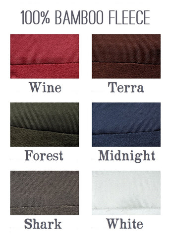 100% Bamboo Fleece Color Samples