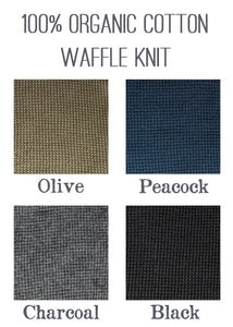 Organic Cotton Waffle Knit Color Samples