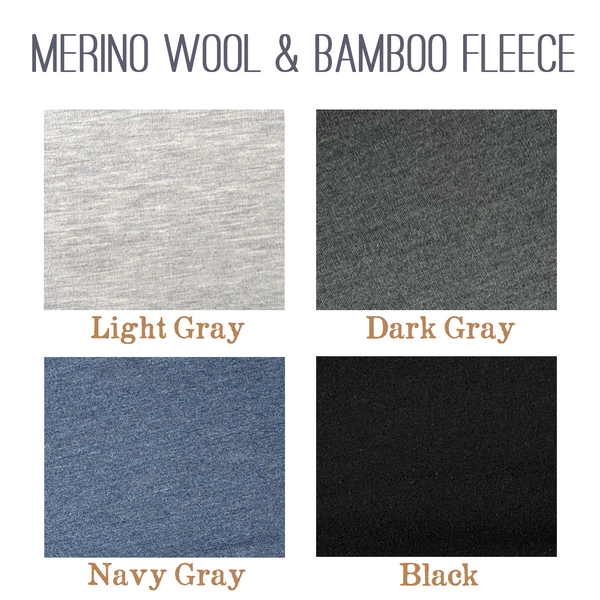 Merino Wool & Bamboo Fleece Long Janes - Sharon Wool Leggings - Ready to Ship - Handmade Organic Clothing