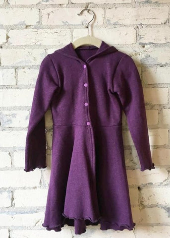 3-5 Year Hemp Fleece Hooded Dress Coat