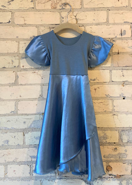 Silk Faux Wrap Dress (3-5 Years)