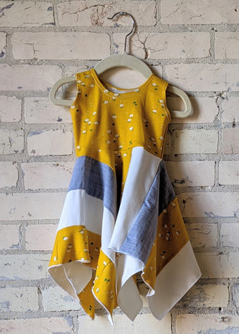 Yellow Daisy Square Dress (6-18 Months)