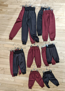 Fleece Jogger Pants for Kids (Size Newborn to Juniors) - Handmade Organic Clothing