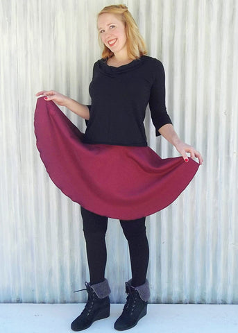 Bamboo Fleece Circle Skirt (Custom Made)