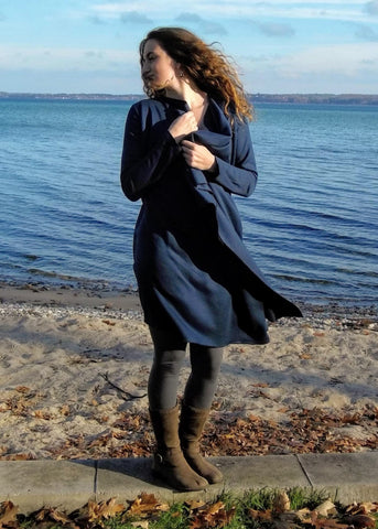 Bamboo Fleece Duster Robe - Ready to Ship Ramona Wrap - Handmade Organic Clothing