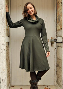 Cowl Neck Debbie Dress (Custom Made)