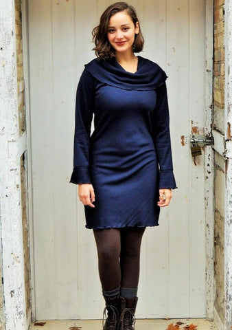 Bamboo Fleece Daphne Tunic Dress - Custom Made - Handmade Organic Clothing
