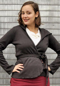 Bamboo Fleece Cardigan - Alisha Wrap Outer Layer - Yana Dee