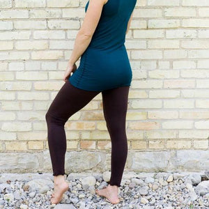 Lightweight Organic Cotton Leggings - Custom Made Chantrell Leggings - Handmade Organic Clothing