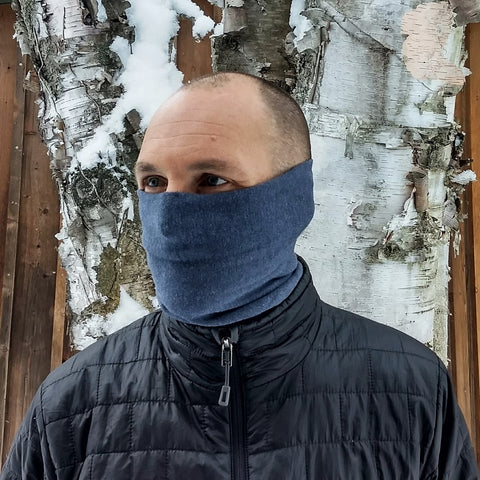 Bamboo & Merino Wool Neck Buff - Lightweight or Fleece - Handmade Organic Clothing