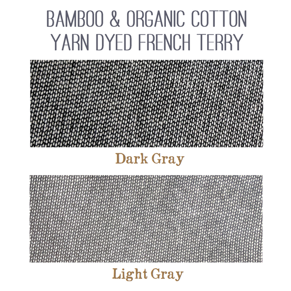 Bamboo & Organic Cotton Yarn Dyed French Terry Color Samples