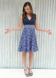 Blue Bunting Chickadee Dress (Custom Made)