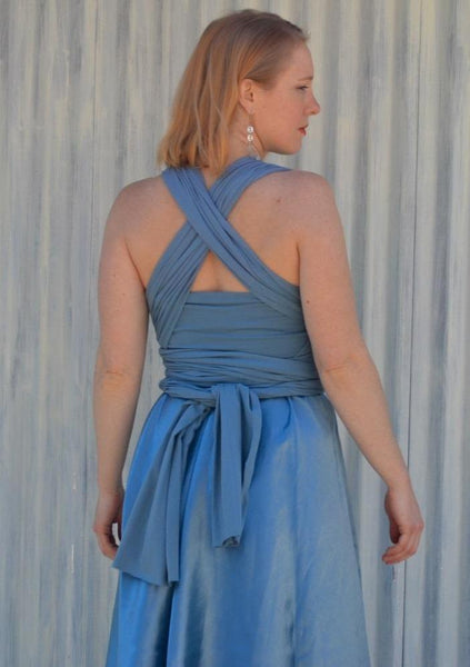 Silk Infinity A-Line Dress - Custom Made Adamine Dress - Handmade Organic Clothing