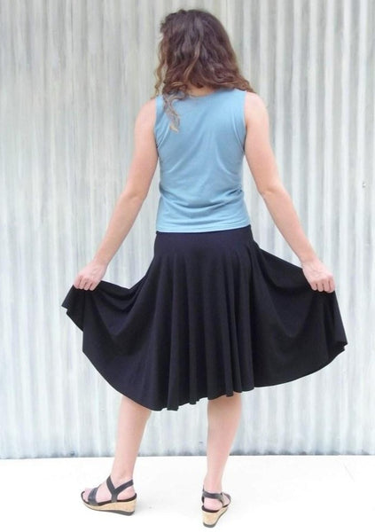 Organic Midi Circle Skirt - Custom Made - Lailia Skirt - Handmade Organic Clothing