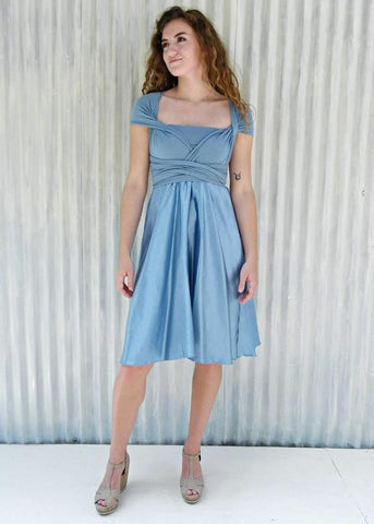 A-Line Silk Infinity Dress - Custom Made - Avery Dress - Handmade Organic Clothing