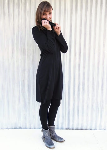 Cowl Neck Mary Tunic Dress (Custom Made)
