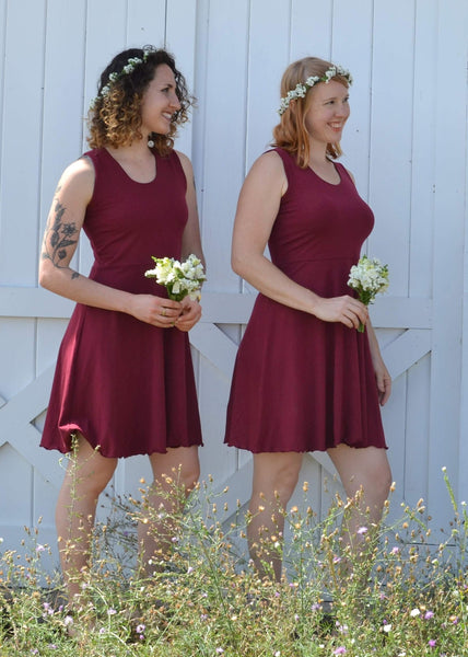 Sleeveless Skater Dress - Ready-to-ship Cara Dress - Handmade Organic Clothing