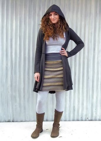 Fairisle Skirt - Handmade Organic Clothing