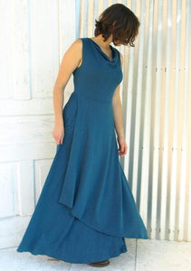 Drape Neck Maxi Dress
