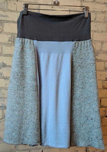 S/M Panel Sweater Skirt - Handmade Organic Clothing